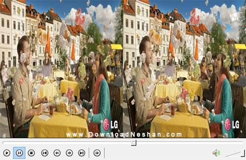 دانلود کلیپ 3 بعدی نمایشی از شرکت ال جی LG 3D Demo Magic World