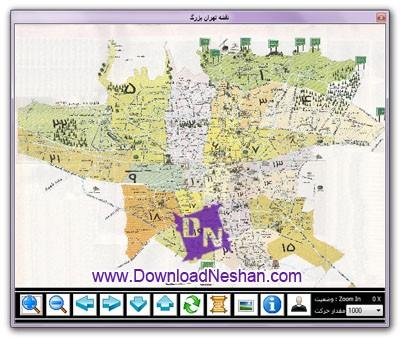نقشه تهران برای کامپیوتر - دانلود از دانلودنشان.کام