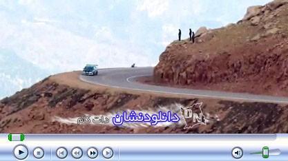 فیلم لحظه سقوط ماشین مسابقه ای به دره - دانلودنشان دات کام