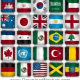 پرچم کشور های مختلف جهان بصورت وکتور