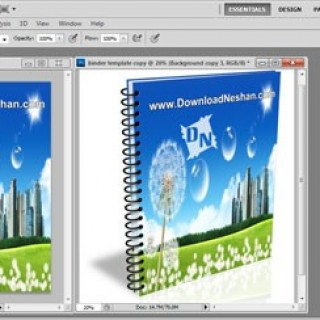 اکشن جلد کتاب برای فتوشاپ - دانلودنشان دات کام